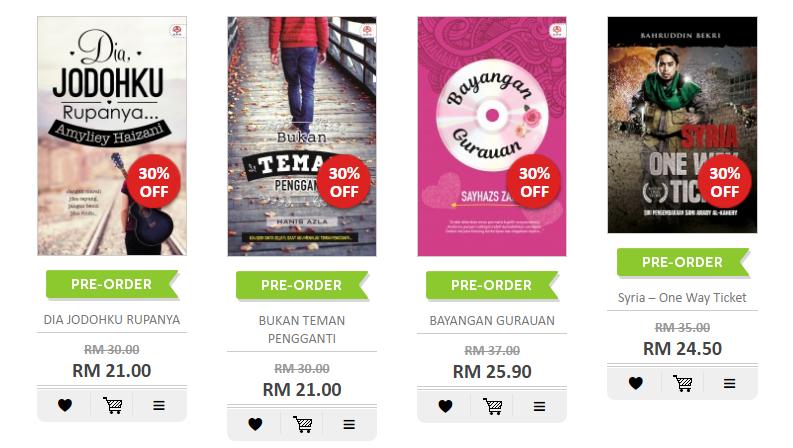 Novel bg kini di pasaran (12 jan 2017)