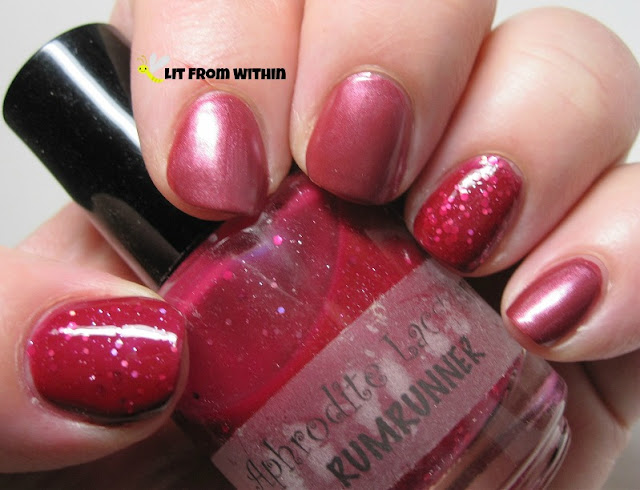 Orly Merlot Mist with Aphrodite Lacquer RumRunner