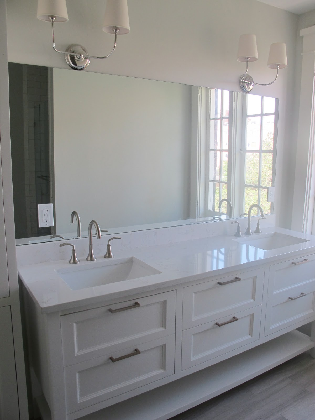 Alluring 10 white quartz bathroom floor tiles inspiration design white quartz bathroom floor tiles white gold before afters c street project dailygadgetfo Image collections