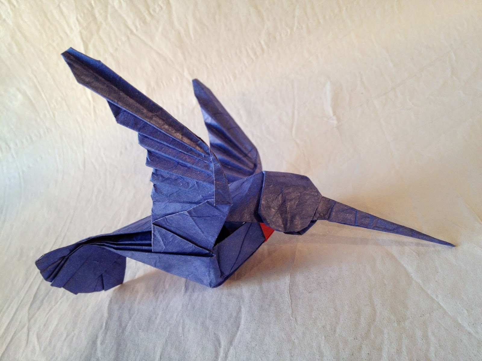 Origami Hummingbird Instructions Art And Craft Ideas