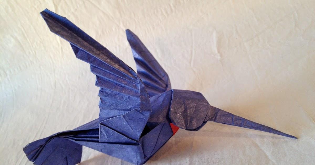 Origami Hummingbird Origami Instructions Art And Craft Ideas
