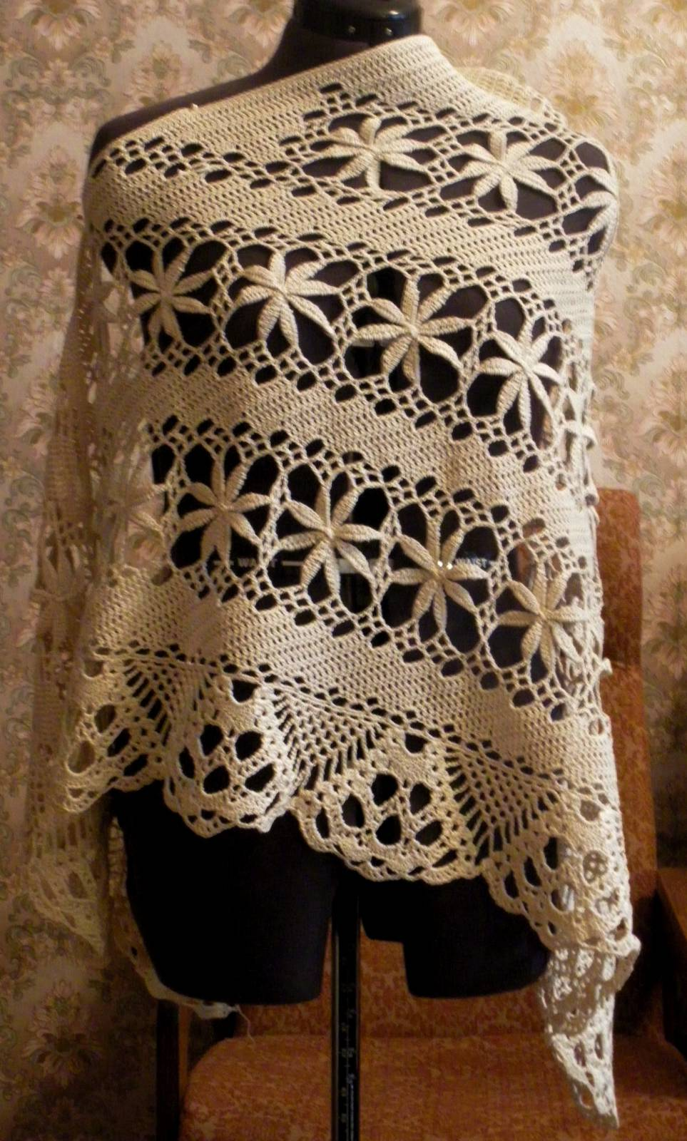 Вязание крючком очень красивые шали