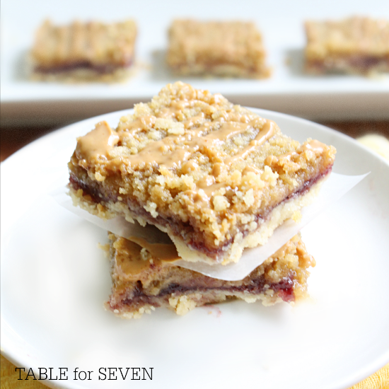 TABLE for SEVEN: Peanut Butter and Jelly Bars