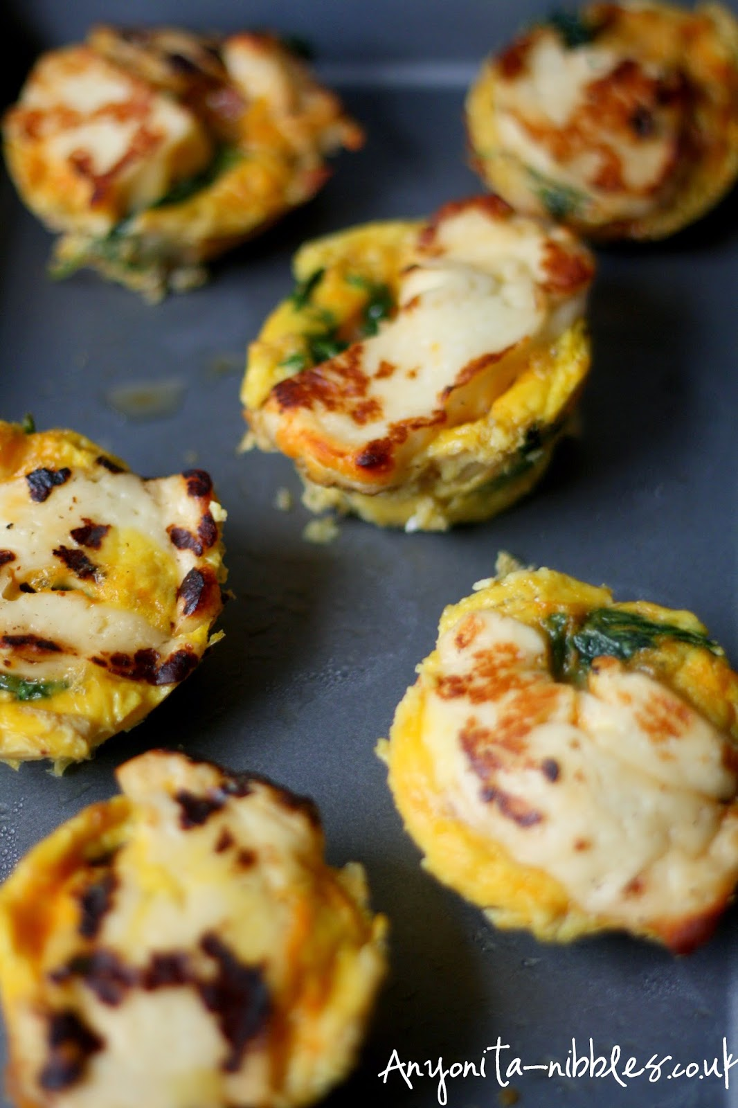 Gluten free halloumi frittatas by Anyonita-nibbles.co.uk from Anyonita-nibbles.co.uk