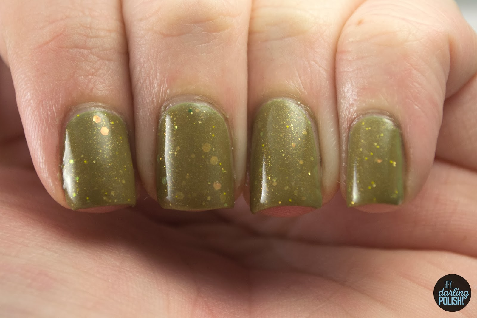 nails, nail polish, polish, indie, indie polish, coated in polish, army green, green, going to war, gold, hey darling polish