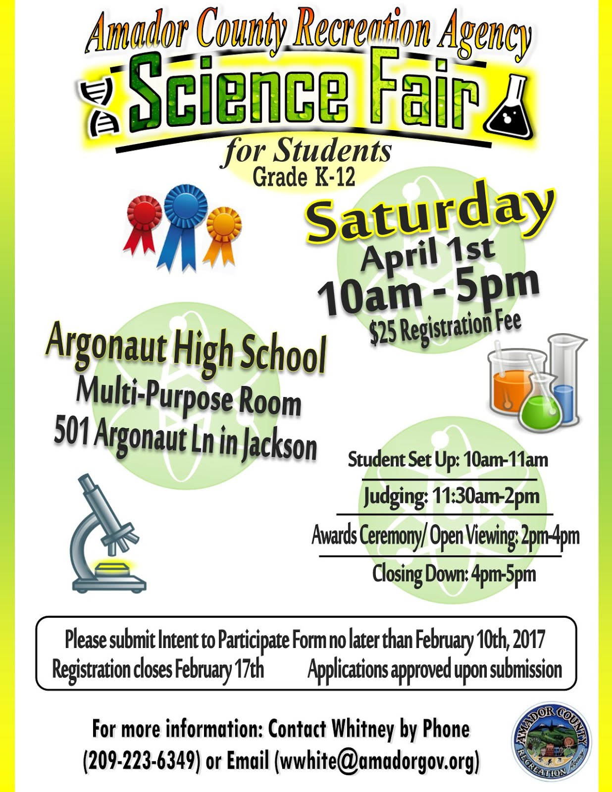 ACRA Science Fair - Sat Apr 1