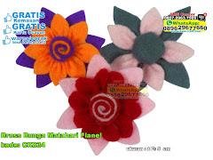 Bross Bunga Matahari Flanel