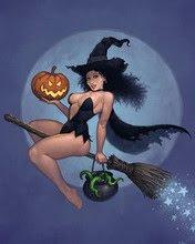 Vještica sa tikvom na metli, Halloween download besplatne slike pozadine za mobitel