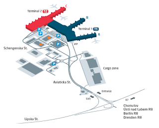 ACE Letiště mapa