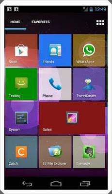 tampilan windows 8 di android