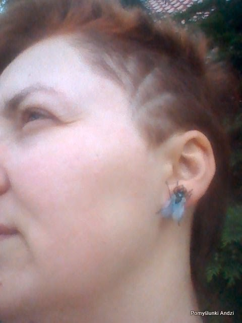 earrings fly, fly, for geek, kolczyki muchy,
