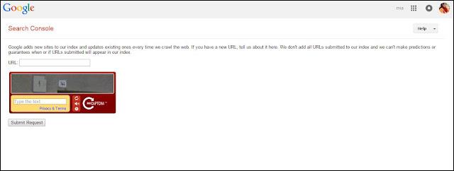 submit url to google webmaster (senjata ngeblog)