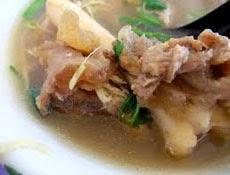 resep praktis dan mudah membuat (memasak) masakan khas betawi (jakarta) sop (sup) kaki kambing spesial enak, lezat