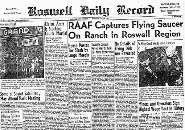 The incident at Roswell - 1947