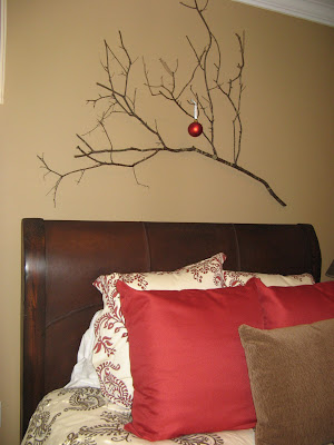 Tree Branch Wall Art - at Christmas