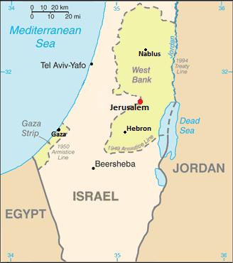 Where Is Jerusalem On A Map Davidterrenoire - Where is jerusalem
