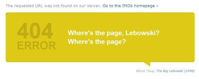 Error 404 en IMDB con The big Lebowski