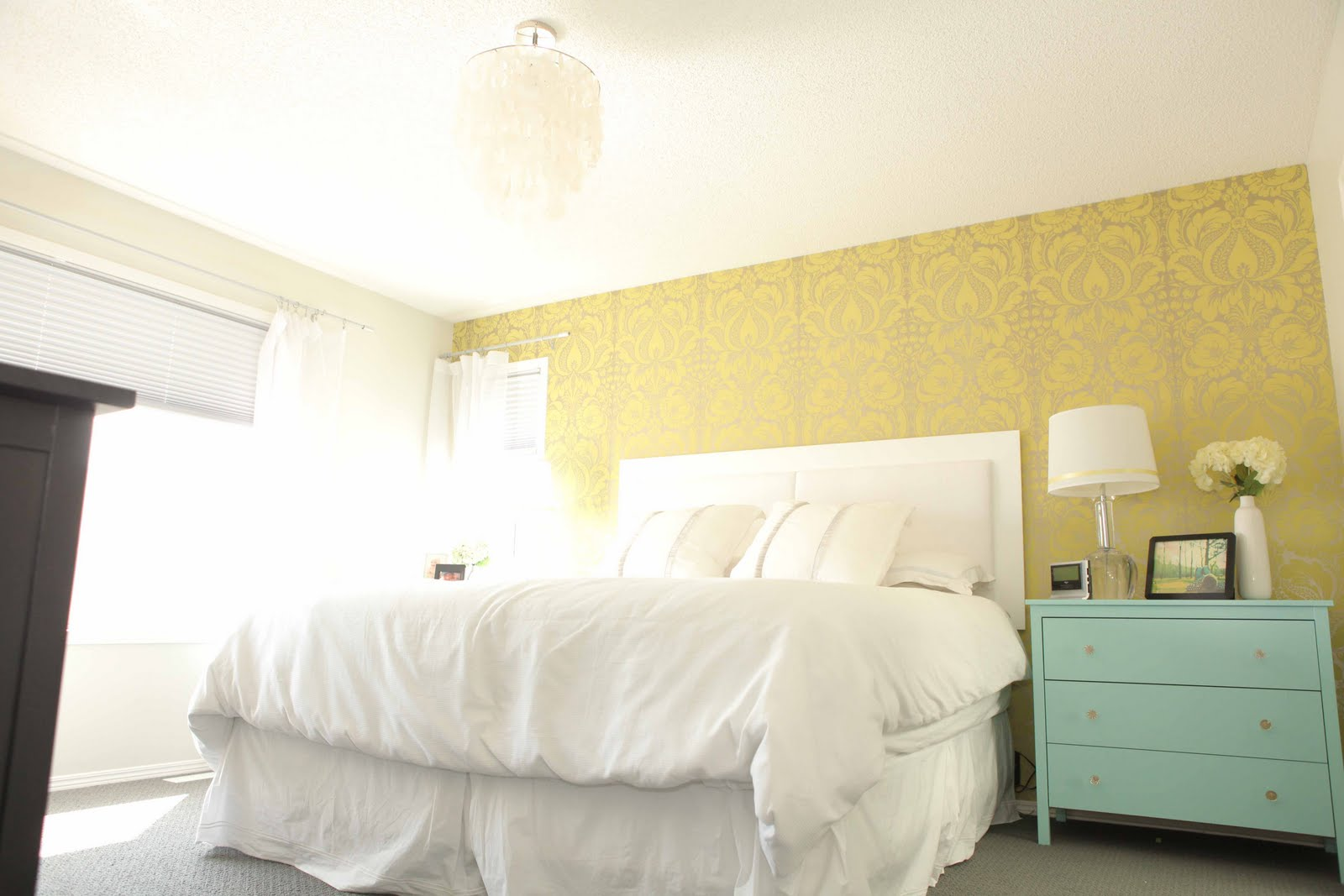 Beach House In The City Room Tour Master Bedroom And Tiffany Blue