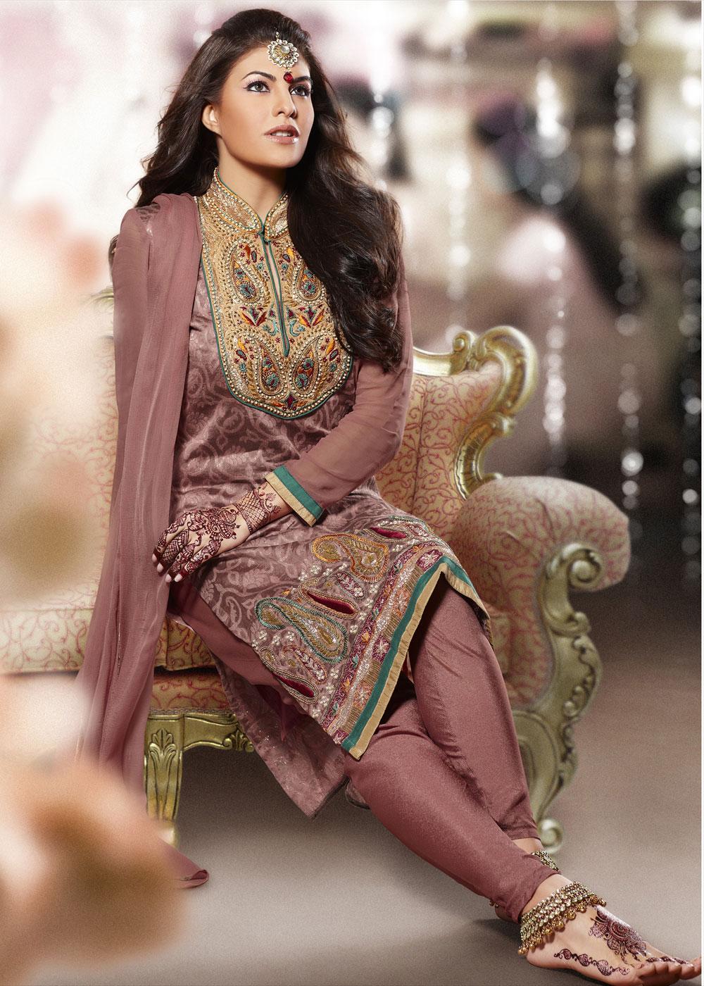 Jacqueline Churidar Salwar Kameez  Zeenat Style