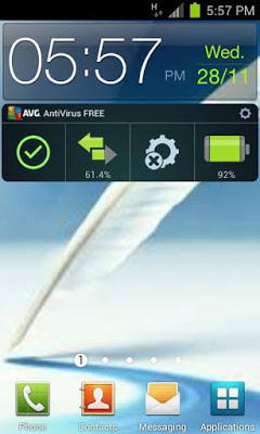 AVG Antivirus FREE for Android 3.1 - Free Widget