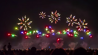 A screenshot from the video of 1PYRO8 - Fireworks from around the world!