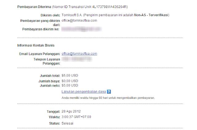 Pembayaran Pertama Dari PopAds.net