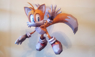Sonic - Tails Papercraf Model