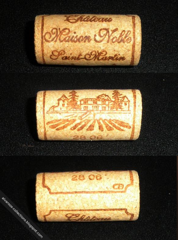 Wine cork: Chateau Maison Noble, Saint-Martin, 28 06