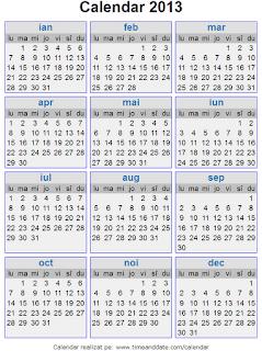 Calendar 2013 - 2