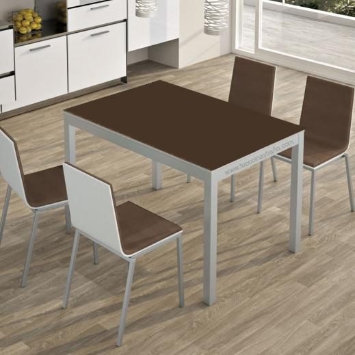 Precio mesa cocina cristal extensible moderna redonda tu - Mesas para cocina extensibles ...