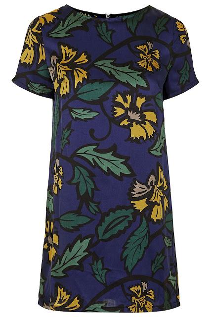 glamorous dress yellow flower, glamorous blue print dress,