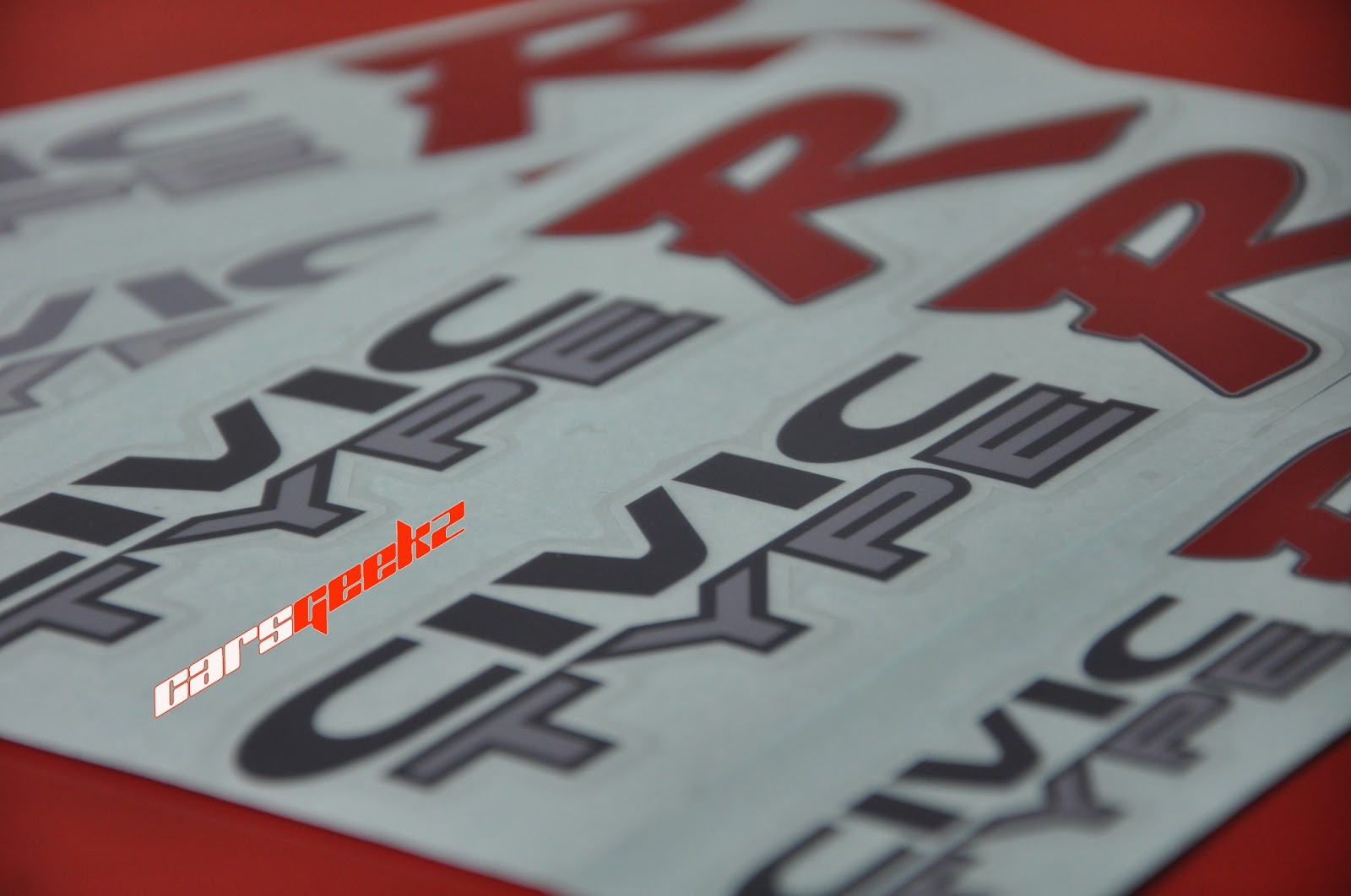 civic type r decals stickers 1