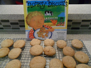 Delicious honey biscuits.