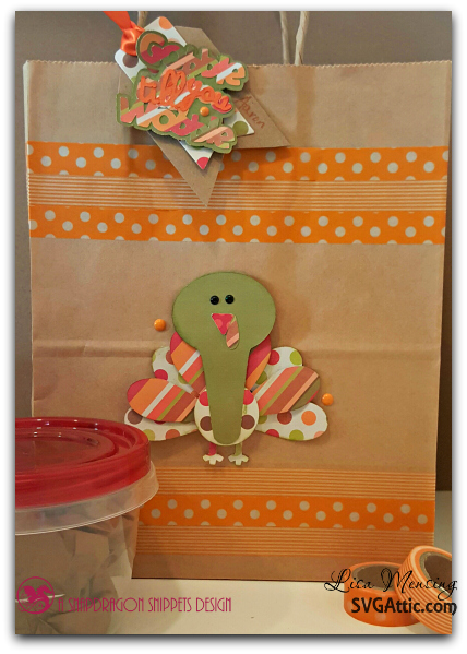 SVG Attic Thankful Friends and Captions Thanksgiving Leftovers Bag