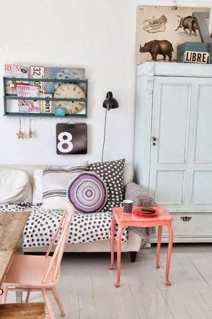 decoracion vintage salmon