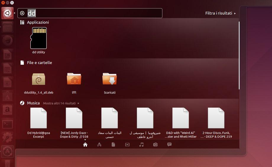 dd-utility in Ubuntu