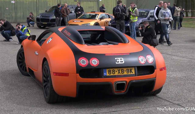 bugatti veyron with mansory exhaust video aaa luxury. Black Bedroom Furniture Sets. Home Design Ideas