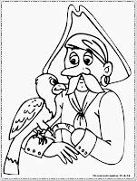 Gambar Mewarnai Jack Sparrow Si Bajak Laut