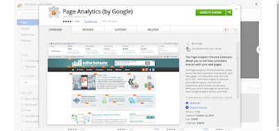 google in-page analytics chrome extension
