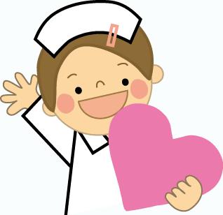 Dibujo de enfermera con corazón para imprimir