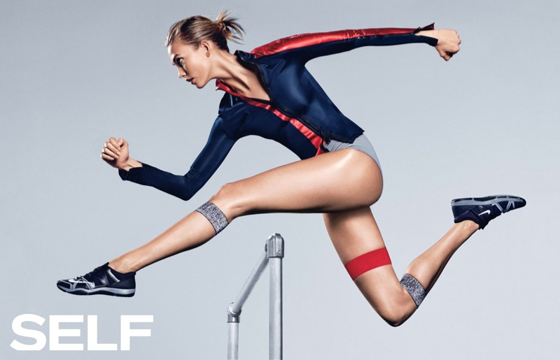 Karlie Kloss goes athletic for Self Magazine August 2015