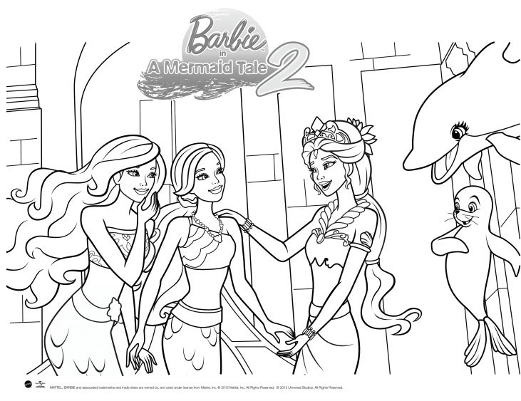 Free coloring pages of barbie surfer