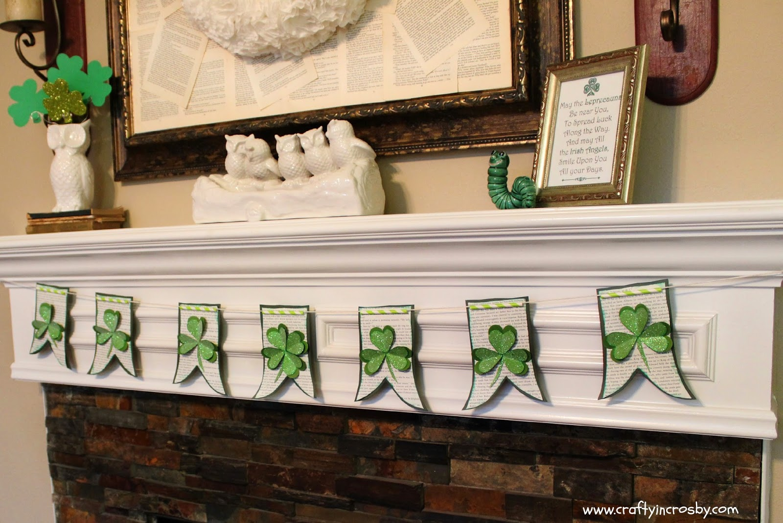 Interchangeable Wreath, March 17, St. Paddy's Day, St Patricks Day, Easy Holiday Decorating