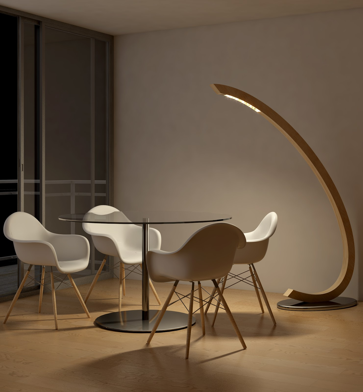 Corsi di interior design la collezione di lampade libe for Piantana design