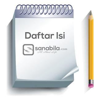 Daftar Isi Semua Postingan Website Sanabila
