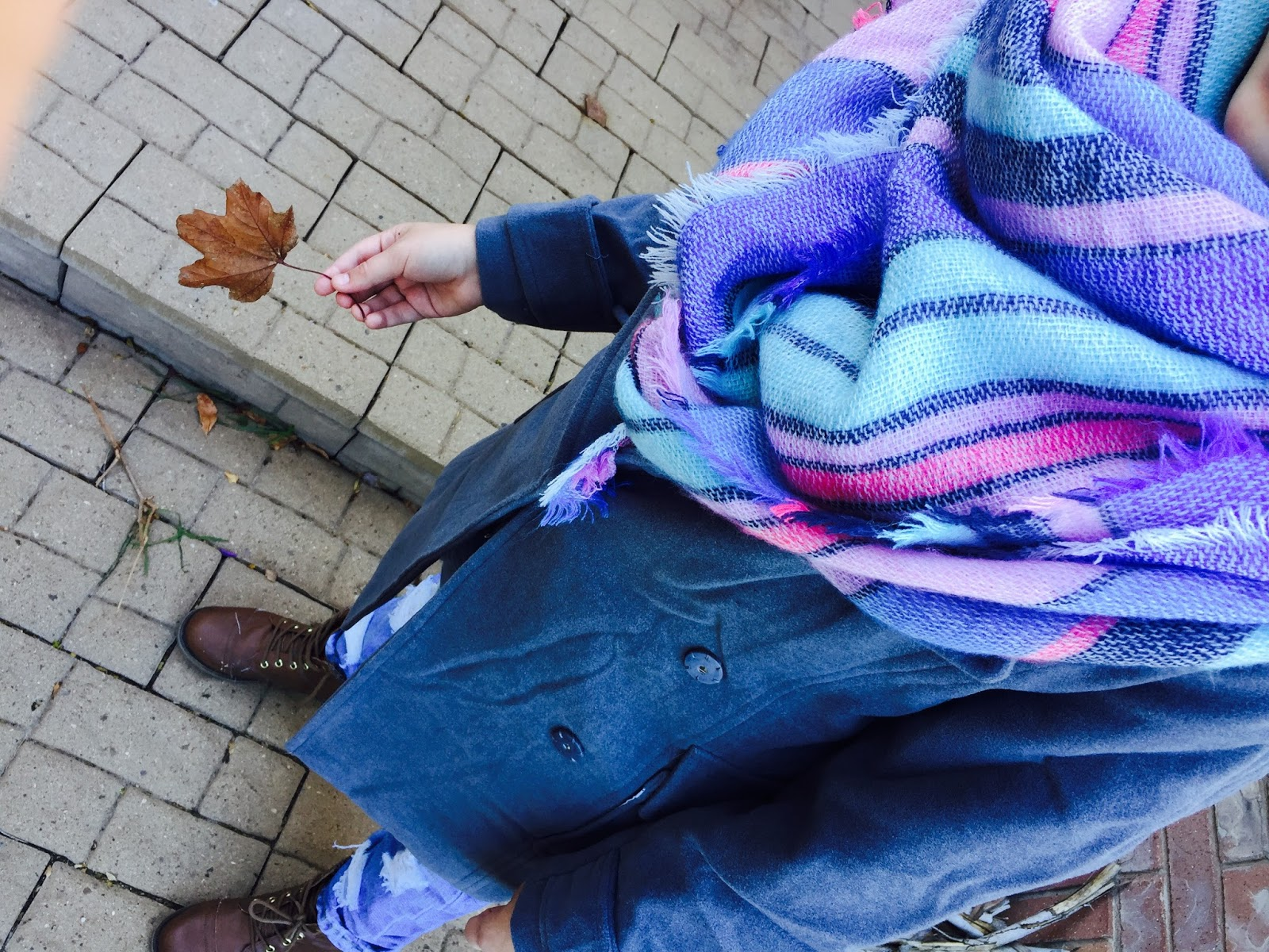 how to style a coat and boyfriend jeans, blanket scarf, american eagle blanket scarf, boyfriend jeans, destroyed boyfriend jeans, pretty, booties,