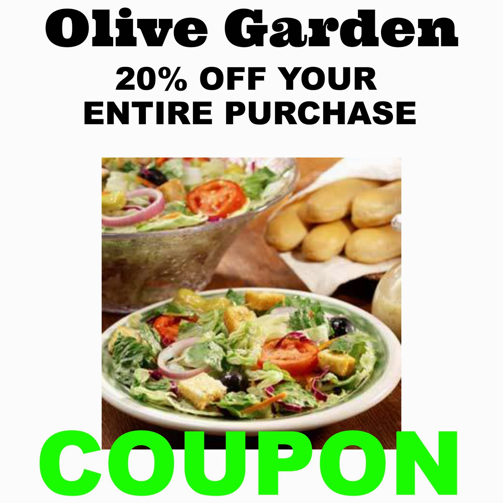 Olive garden florida coupons
