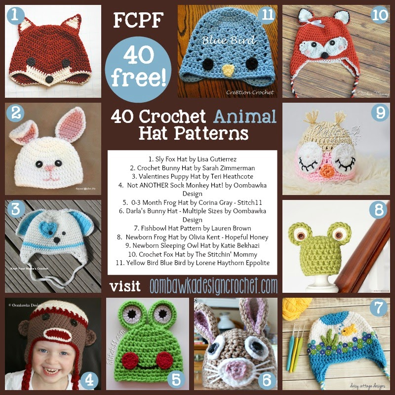 Free Crochet Pattern Baby Girl Boots : 40 Cute & Free Crochet Animal Hat Patterns Creative Ideas