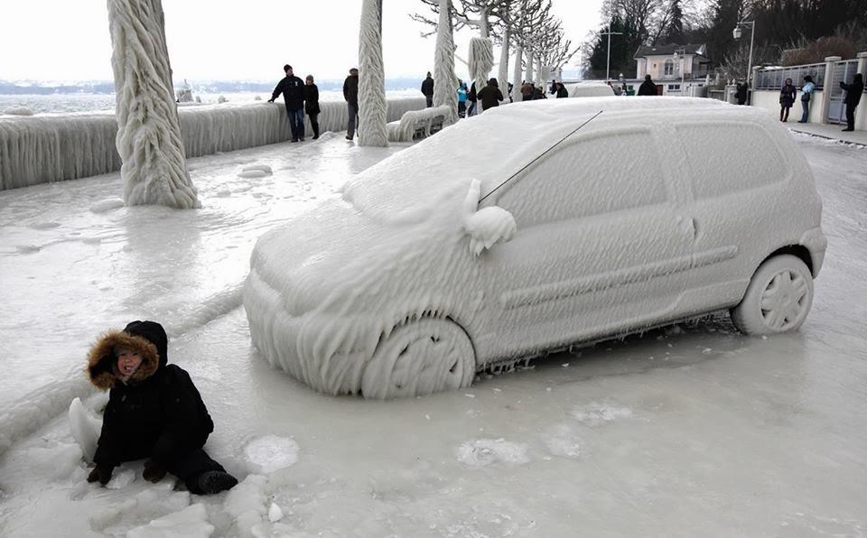 car, ice, cold