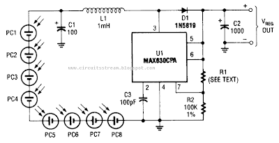 Circuit Diagram of Photocell Power Supply (MAX630)